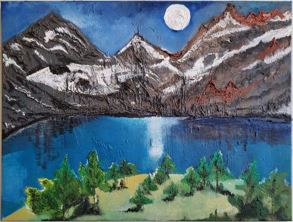 Moon Light Glimmering Night