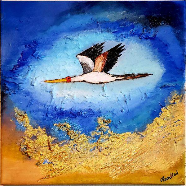 migrating-crane-oil-painting